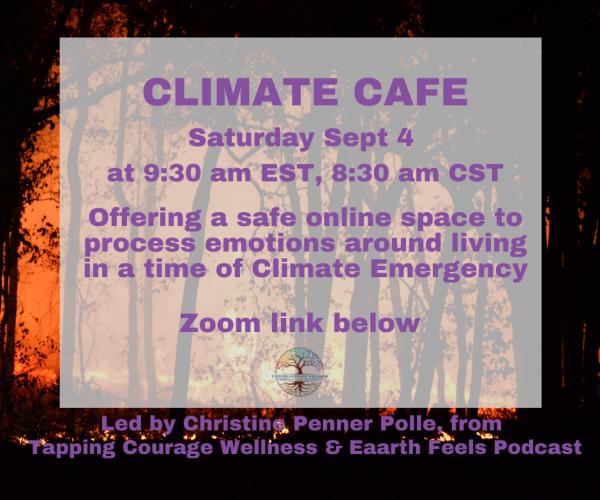 Climate Cafe notice