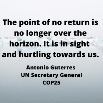 Quote from UN Secretary General Antonio Guterres